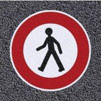 Thermoplastische vloermarkering - Verboden voor voetgangers