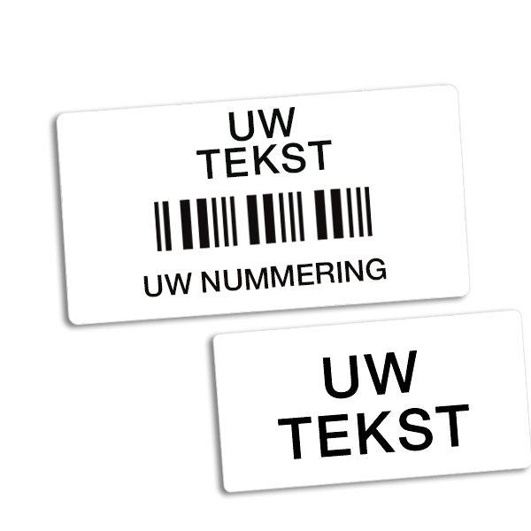 Etiketten met barcode en sterke kleeflaag - Seton