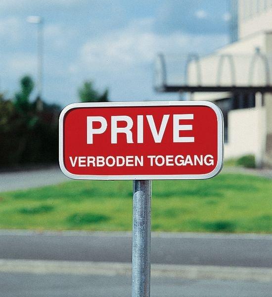 Retroreflecterende verbodsborden - Privé verboden toegang - Seton