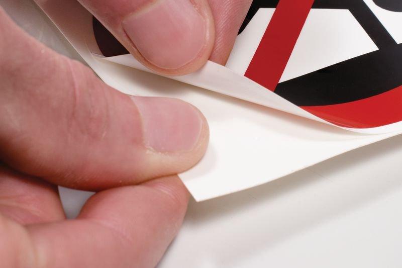 ANSI Z535-stickers - Risico om vast te raken - Handen op afstand houden - Borden en pictogrammen Gevaar voor de handen
