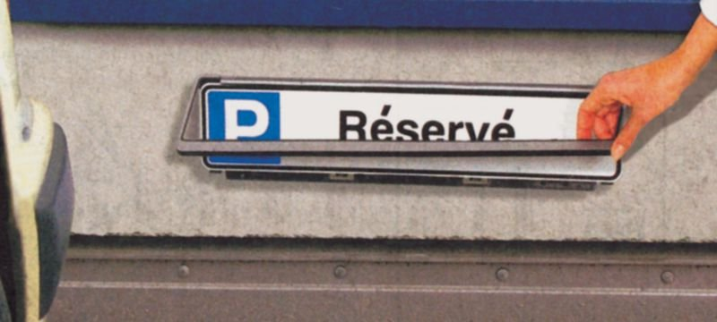 Muurhouder voor lang rechthoekig parkeerbord - Seton