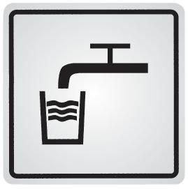 Zelfklevende informatieborden van staal Drinkwater