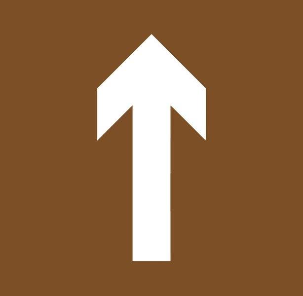 Houten sjabloon voor vloermarkering Draaibare richtingspijl