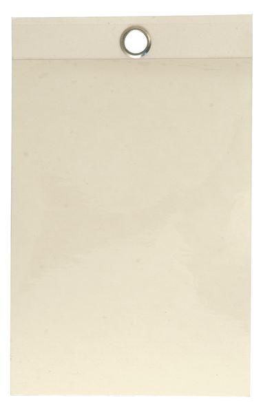 Zelflaminerende hanglabels van blanco karton - Seton