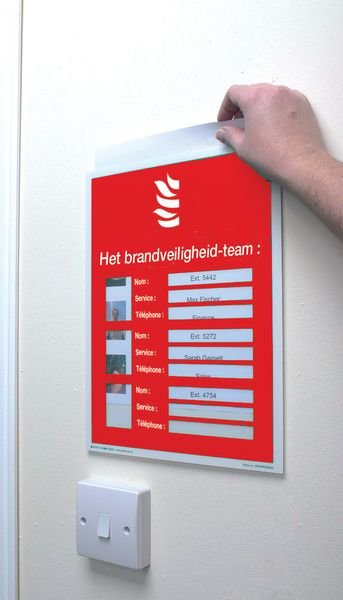Aan te vullen brandveiligheidsposters - Het brandveiligheid-team - Signalering ontruiming