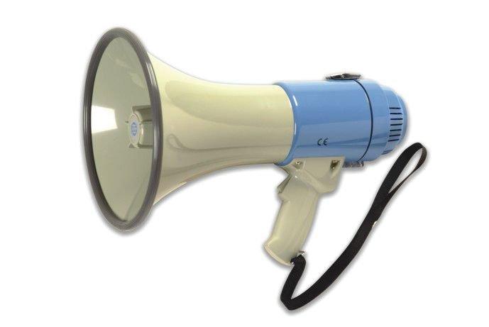 Megafoon met geïntegreerde sirene