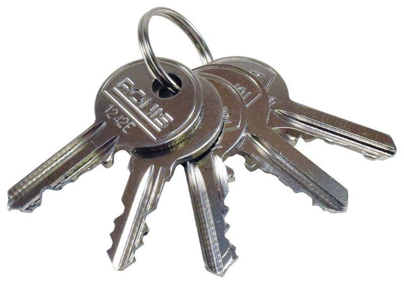 Sleutelbos met 5 standaard sleutels
