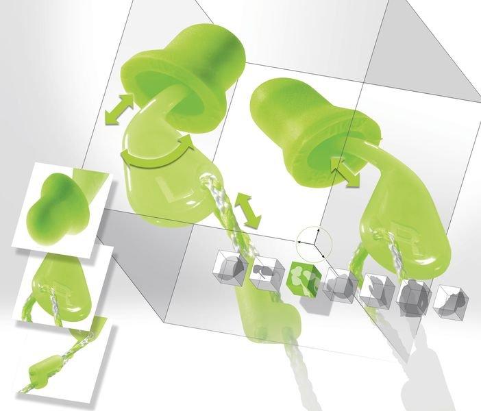 Wegwerp oordopjes Uvex Xact-fit met SNR 26 dB