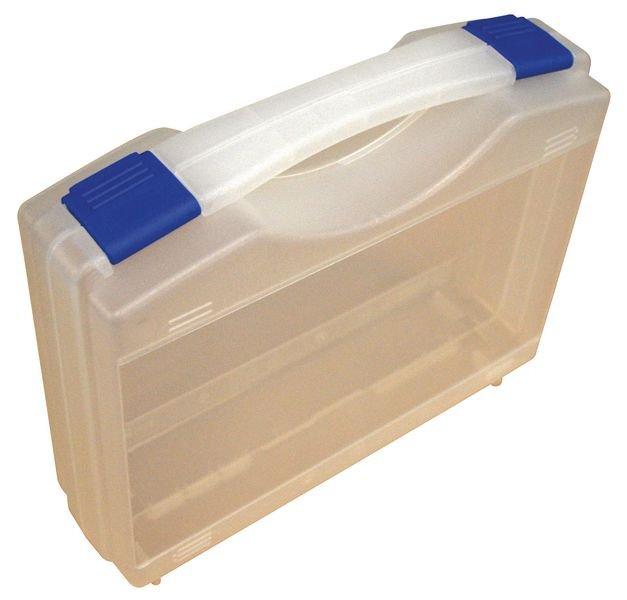 Transparante opbergkoffer voor PBM met 4 pictogrammen - Plastic opbergdozen en dispensers voor PBM