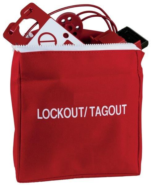 Grote, rode opbergtas voor lockout / tagout - Seton