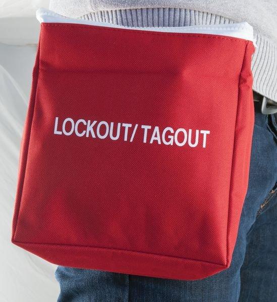 Grote, rode opbergtas voor lockout / tagout - Opbergtassen voor lockout