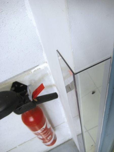 Stootrand muur van doorzichtige polycarbonaat - Seton