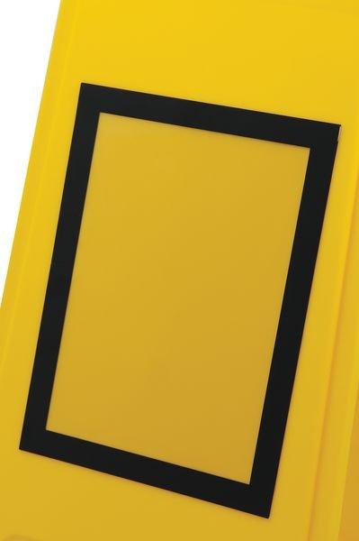 Tweezijdig, opvouwbaar A-bord met magnetische affichehouder - Seton