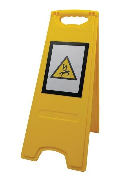 Tweezijdig, opvouwbaar A-bord met magnetische affichehouder - Risicopreventie op het werk