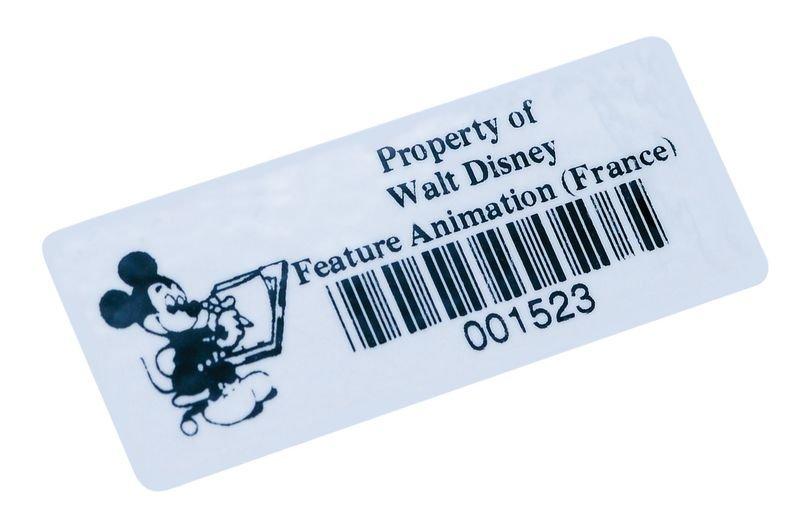 Personaliseerbare stickers met barcode, van verstevigd vinyl - Seton