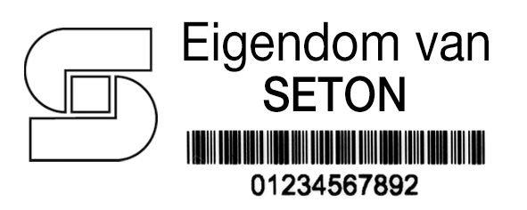 Personaliseerbare eigendomsetiketten DuraGuard® Lite, van gelamineerd polyester - Personaliseerbare etiketten