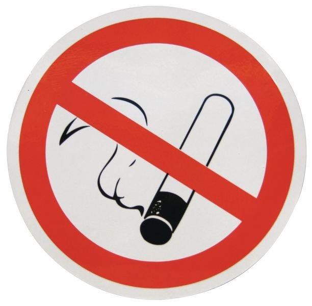 Dubbelzijdige raamstickers verbod Verboden te roken