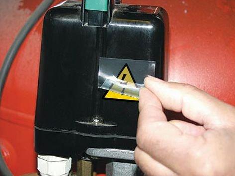 Rechthoekige waarschuwingsstickers Elektrisch gevaar - Borden en pictogrammen Gevaar