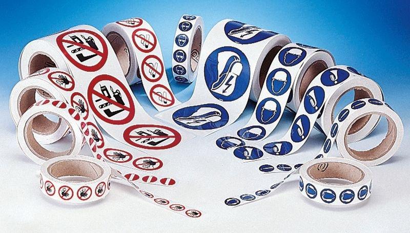 Set waarschuwingsstickers - 2+1 rollen Aarding - Borden en pictogrammen Elektriciteitsgevaar