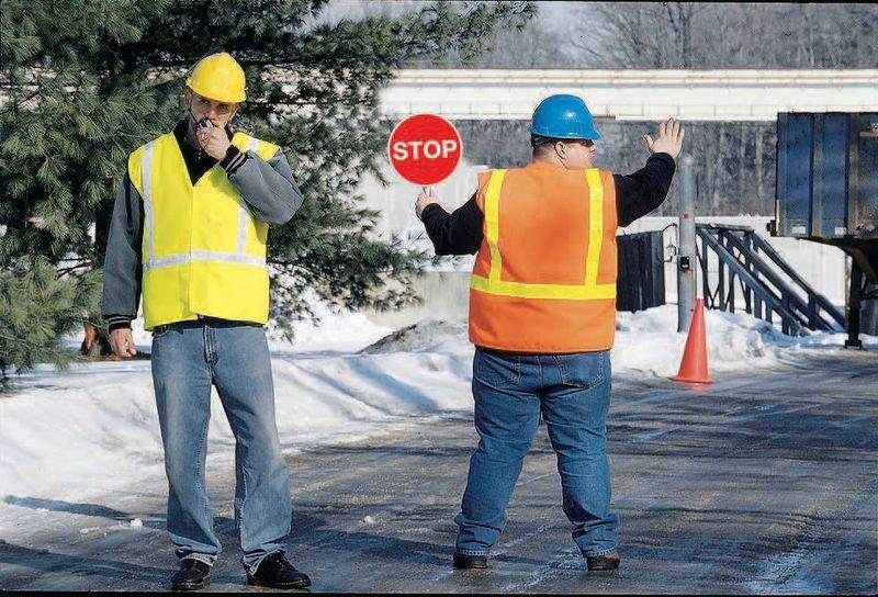 Verkeersbord met handvat - Stop - Stop - Seton