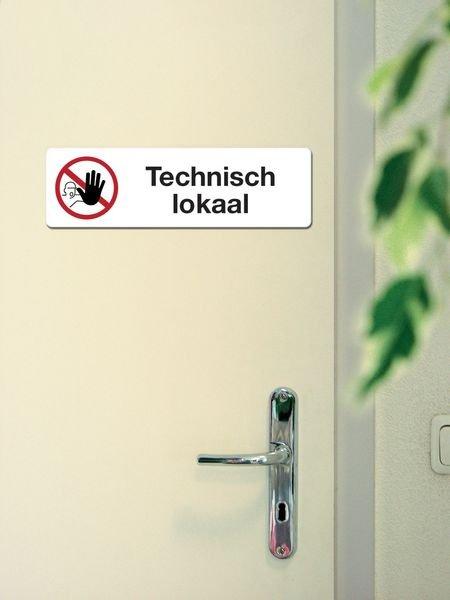 Zelfklevende verbodsborden van PVC Verboden toegang - Technisch lokaal - Seton