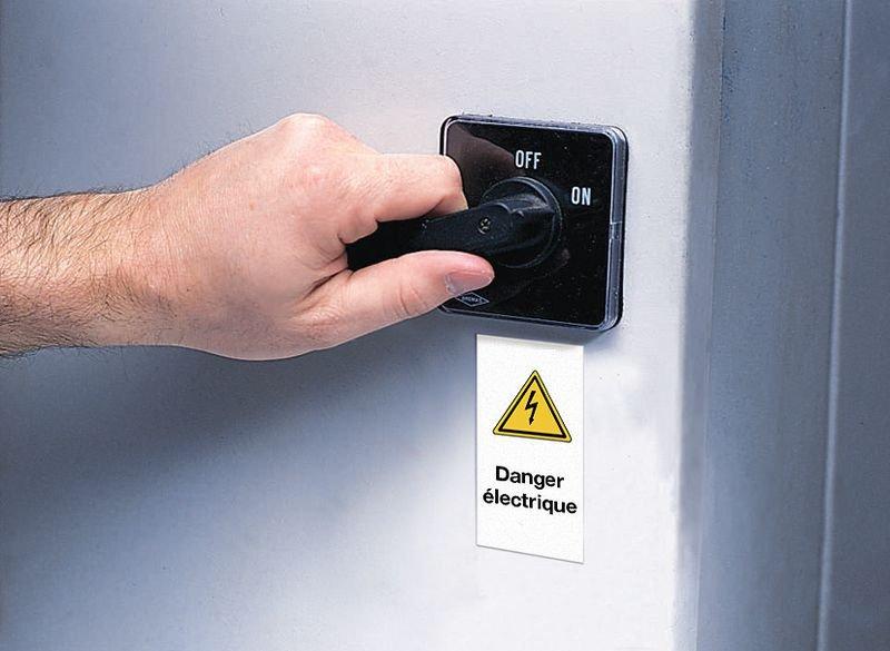 Waarschuwingsstickers op rol - Gevaarlijke elektrische spanning - Seton