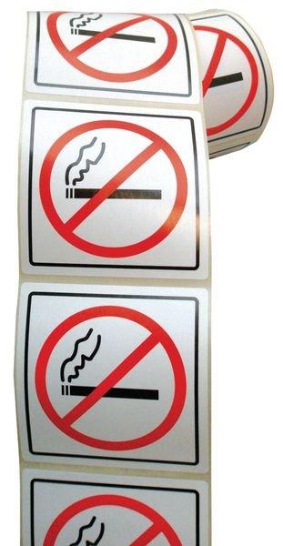 Verbodsstickers op rol Verboden te roken - Seton