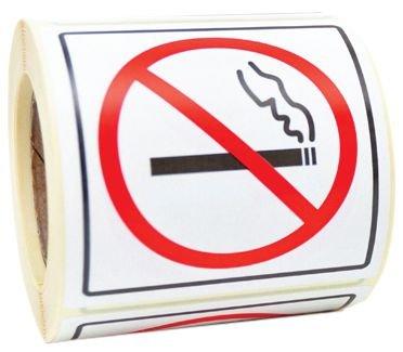 Verbodsstickers op rol Verboden te roken