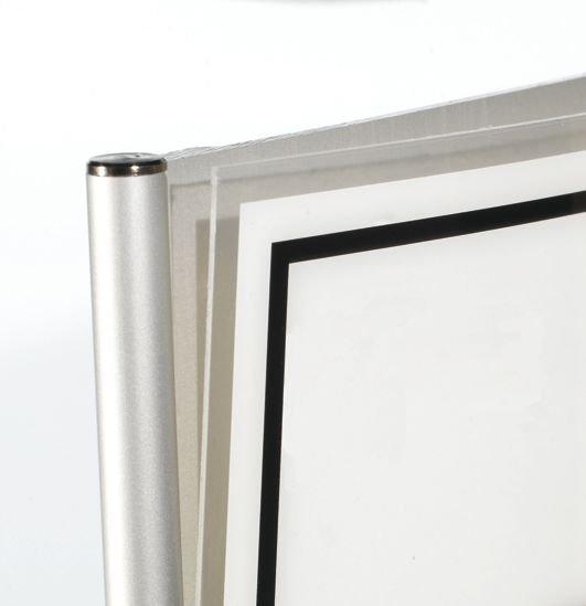 Informatieborden met aluminium profiel Toilet dames - Informatieve pictogrammen toiletten