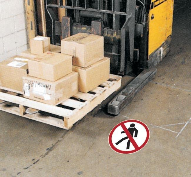 Verbodsstickers als vloermarkering Verboden voor voetgangers - Seton