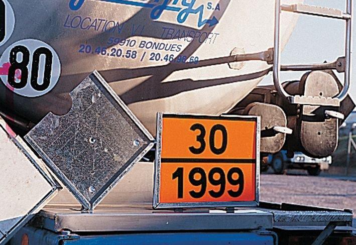 Oranje, blanco ADR-stickers voor transport van gevaarlijke stoffen - Seton