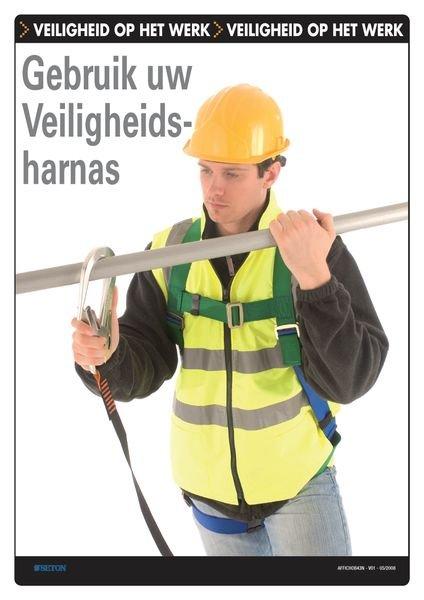 Veiligheidsposters - Gebruik uw veiligheidsharnas