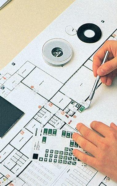 Stickers nooduitgang in miniformaat, op vel - Seton