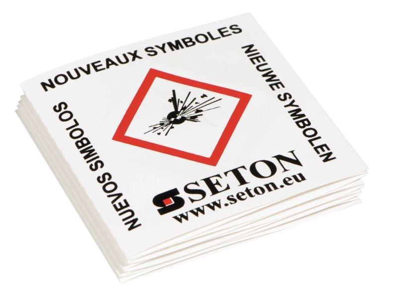 Educatief foldertje met de 9 CLP-pictogrammen van zakformaat - Seton