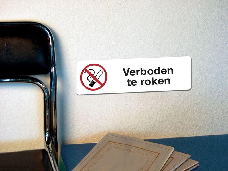Zelfklevende, rechthoekige verbodsborden - Verboden te roken - Seton