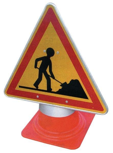 Tijdelijke gevaarsborden voor kegel Werkzaamheden - Seton