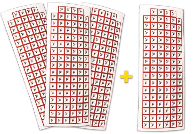 Set stickers met CLP-pictogrammen - 3+1 vellen Explosieve stoffen - GHS01