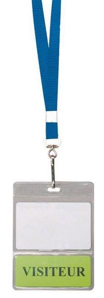 Badgehouder met dubbele inschuifplaat voor badge en kaart