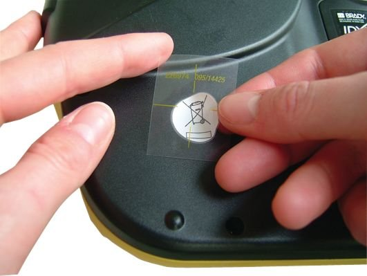 Rub-on WEEE-stickers - Borden en pictogrammen Scheiden van afval
