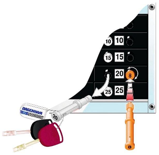 Witte vergrendelende sleutelhanger - Sleutelkasten en sleutelhangers