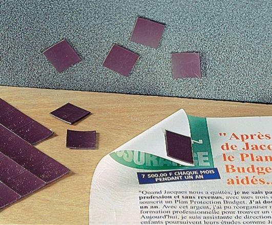 Dunne vierkante magneten met zelfklevende zijde - Seton