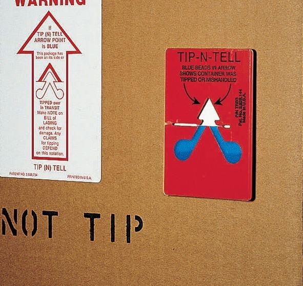 Valindicator 'Tip n tell' voor pakketten - Seton