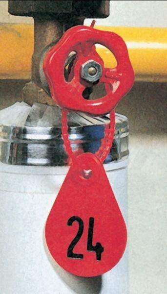 Personaliseerbare, gegraveerde ventielplaatjes van polyurethaan - Seton