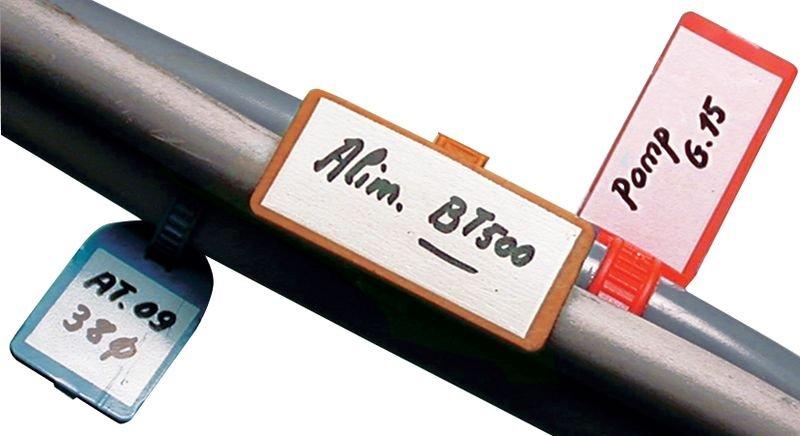Set van 4000 nylon kabelbinders met beschrijfbaar label + 4 onuitwisbare markers - Seton