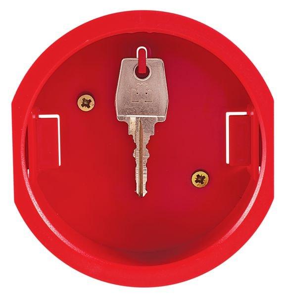 Cylindrische, rode sleutelkast voor noodsleutel - Sleutelkast voor reservesleutels