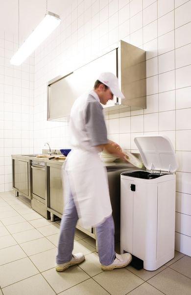 Witte pedaalemmer, ideaal voor in de voedingsindustrie - Seton