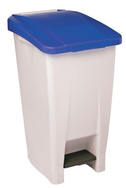 Pedaalemmer met gekleurd deksel voor afvalscheiding