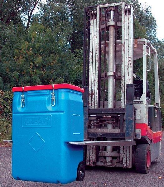 Container op wielen voor gevaarlijke stoffen - Lekbakken