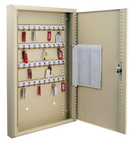 Klassieke sleutelkast met register en verstelbare haakjes - Seton