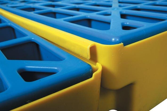 Lekbak van polyethyleen voor 2 vaten - Lekbakken van plastic